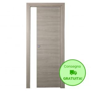 Porta Scorrevole Interna Reversibile TUA Melaminico Mandorla h. 210 cm - 4 Dimensioni