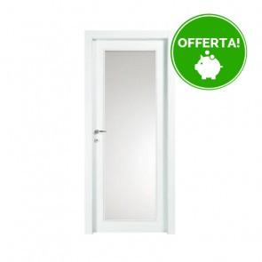 Porta con vetro a Battente EASY Melaminico Bianco h. 210 cm - 2 Dimensioni