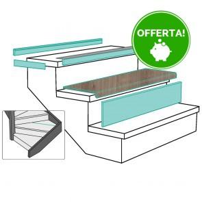 GRADINO LOUSIANA OAK rivestimento per scale in MDF - 100 x 30 x 5,6 cm