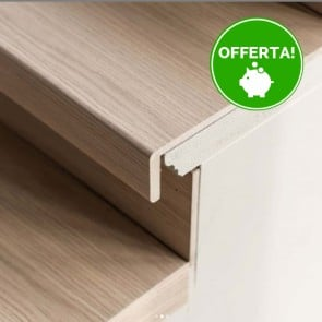 GRADINO FLORIDA OAK rivestimento per scale in MDF - 100 x 30 x 5,6 cm