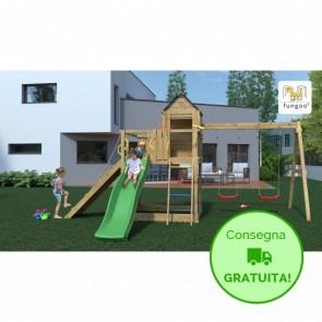 Parco Giochi in legno Casa sull'albero - 501 x 443 x 272 cm