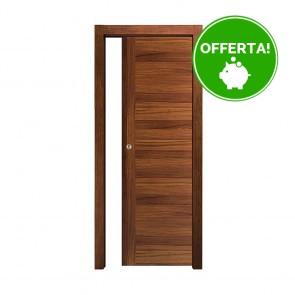 Porta Scorrevole Interna Reversibile EASY Melaminico Noce Cellini h. 210 cm - 3 Dimensioni