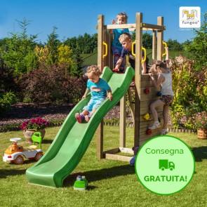 Parco Giochi in legno Fungoo FUNNY 3 - 290 x 82 x 210h cm