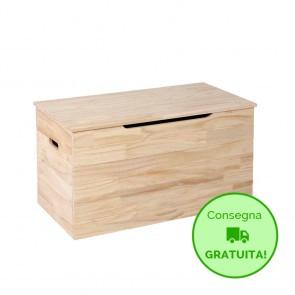 Cassapanca in legno da interno SUPERJOLLY - 85 x 45 x 45h cm - Spessore 15 mm
