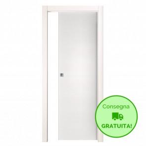 Porta Scorrevole Interna Reversibile EASY Melaminico Bianco Graffiato h. 210 cm - 4 Dimensioni