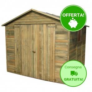 Casetta Box legno IMPREGNATO 243 x 250 cm  a pannelli