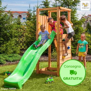 Parco Giochi in legno Fungoo TIPTOP - 86 x 334 x 205h cm