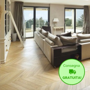 Parquet SPINA FRANCESE 45° Rovere Naturale 10x120x700 mm - serie New Line