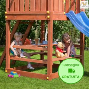 Fungoo Free Time in legno Abete 120 x 120 cm - Accessorio Parco Giochi