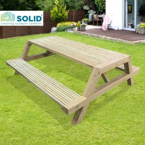 Tavolo da PICNIC MODERN professionale 200x175 spessore 4 cm in legno trattato