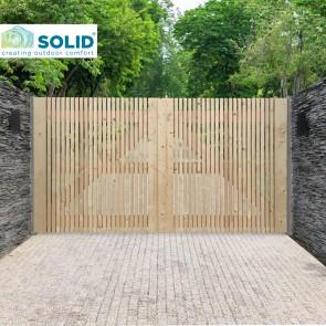 CANCELLO DOPPIO ANTWERP in legno di pino 300 x 160 cm