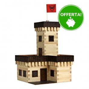 GIOCO COSTRUZIONE per bambini in legno Castello estivo - 296 Pezzi