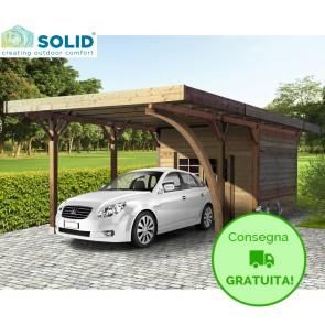 Carport + Ripostiglio in legno IMPREGNATO 7 x 4 metri
