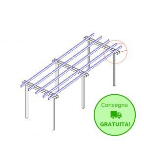 Pergola  BASIC autoportante 600x300 legno classe 3 - portata 50 Kg - ANCHE SU MISURA