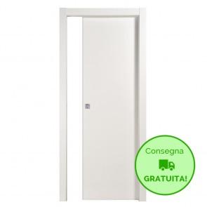 Porta Scorrevole Interna Reversibile MICROTEC Mdf Bianco h. 210 cm - 4 Dimensioni