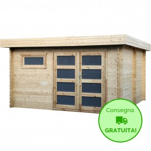 Decor et jardin casetta Plodovie in legno abete 4,14 x 4,22 m