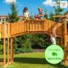 Ponte Fungoo Rainbow in legno Abete 80 x 266 x h 225 cm - Accesorio Parco giochi
