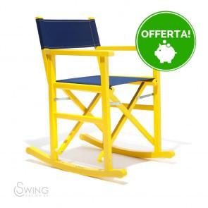 Sedia a Dondolo in Legno laccato - Limon
