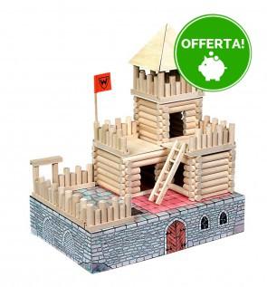 Costruzioni in Legno ad incastro set VARIO FORT 194 pezzi