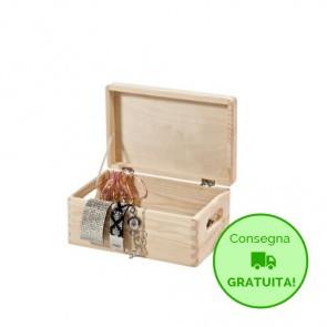 Scatola in legno con coperchio - 30 x 20 x 14h cm