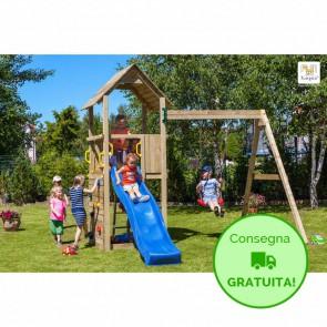 Parco Giochi in legno Fungoo CAROL 2 - 391 x 285 x 282h cm