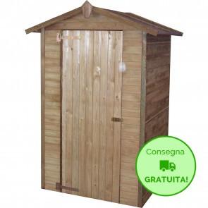 Casetta ripostiglio a pannelli 120 x 110 cm in legno trattato in autoclave