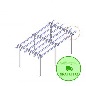 Pergola  BASIC autoportante 600x400 legno classe 3 - portata 50 Kg - ANCHE SU MISURA