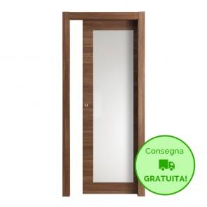 Porta Vetro Scorrevole Interna Reversibile EASY Melaminico Cognac h. 210 cm - 2 Dimensioni