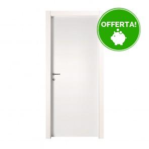Porta a Battente EASY Melaminico Bianco Graffiato h. 210 cm - 4 Dimensioni