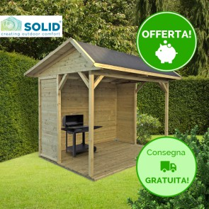 Gazebo per barbeque RONSBURG 340 x 250 x 259 cm  con pannello antivento