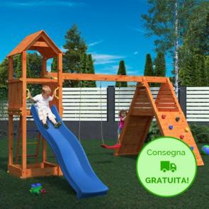 Parco Giochi in legno Fungoo Fleppi - 390 x 410 x 274h cm
