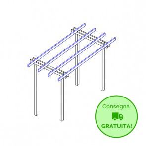 Pergola  BASIC autoportante 400x210 legno classe 3 - portata 50 Kg - ANCHE SU MISURA