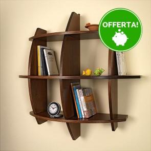Libreria componibile in legno PEPE - 75 x 30 x 75h cm - finitura Noce