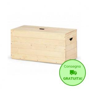 Baule BOX 80 in legno di Abete massello Naturale 80X35X35 cm