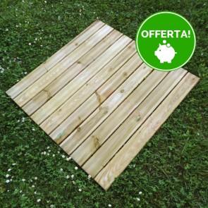 Mattonella zigrinata 100x100 Pino Impregnato - Pavimento da esterno - Spessore 3,8 cm Extra Resistenza