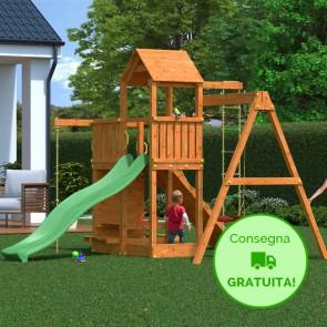 Parco Giochi in legno Fungoo Activer - 396 x 285 x 272h cm