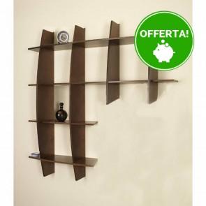 Libreria componibile in legno ARMONY - 150 x 30 x 150h cm - finitura Noce