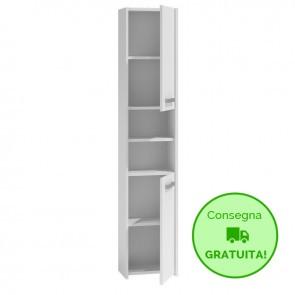 Mobile lavanderia componibile LINO - 30 x 30 x 170h cm - Bianco
