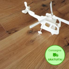 Parquet Prefinito ROVERE NATURALE scelta DE 10x150x1250 mm - serie Canarie Small