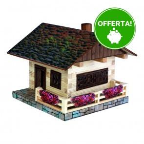 GIOCO COSTRUZIONE per bambini in legno Chalet Alpino - 103 Pezzi