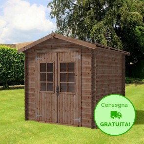 Casetta in legno MARINA 246X246 Cm - Trattamento da esterno ACORD