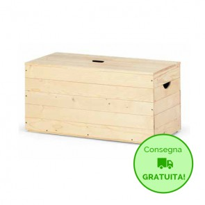 Baule BOX 60 in legno di Abete massello Naturale 60X35X35 cm