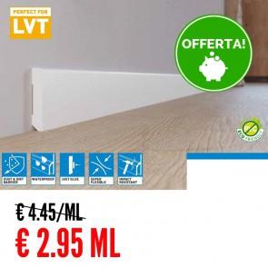 Battiscopa 100% IMPERMEABILE Bianco LVT 80 x 10 mm