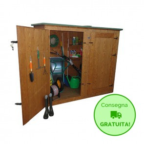 Armadio-Ripostglio CERVINO da esterno in legno trattato 172 x 92 x 185 h cm