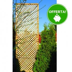 Grigliato frangivista PRIVACY 40 x 180 h. cm in legno impregnato - Maglia stretta 2 cm