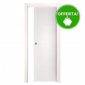 Porta Scorrevole Esterna Reversibile EASY Melaminico Bianco Graffiato h. 210 cm - 2 Dimensioni