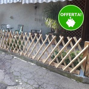 Onlywood Steccato ESTENSIBILE in Legno trattato in  Autoclave- Altezza 80 x 225 cm.