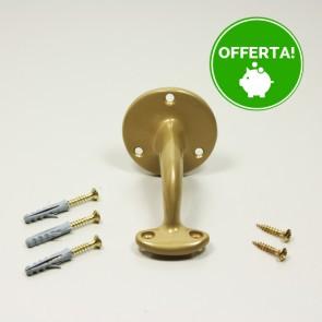 SUPPORTO PER CORRIMANO Ottone 3 Fori Ottone 52x73 mm