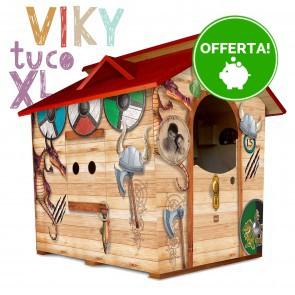 Casetta in legno da giardino per bambini XL Fantasia VIKI