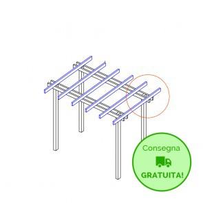 Pergola  BASIC autoportante 210x400 legno classe 4 - portata 50 Kg - ANCHE SU MISURA